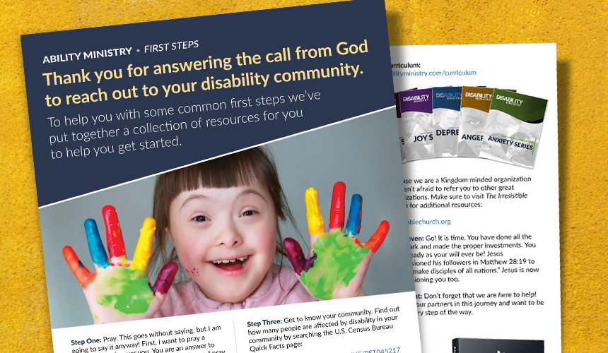 First Steps: Starting Your Disability Outreach