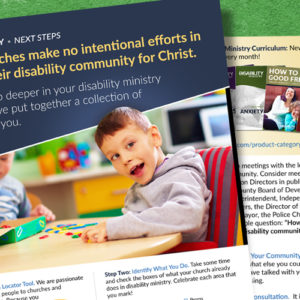 Next Steps: Continuing Your Disability Ministry