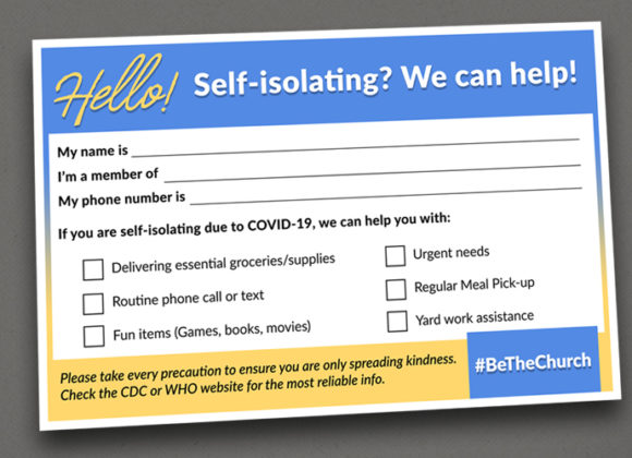 #BeTheChurch – Self-Isolation Check