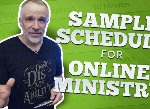 Free Sample Schedule for Online Ministry