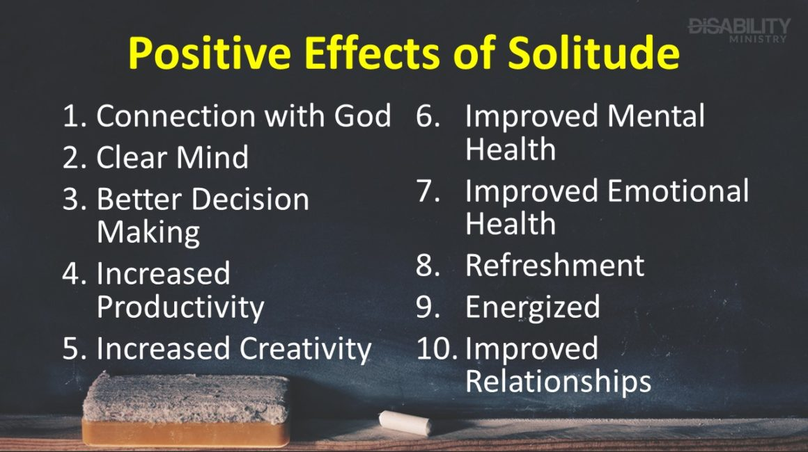 Positive Effects of Solitude