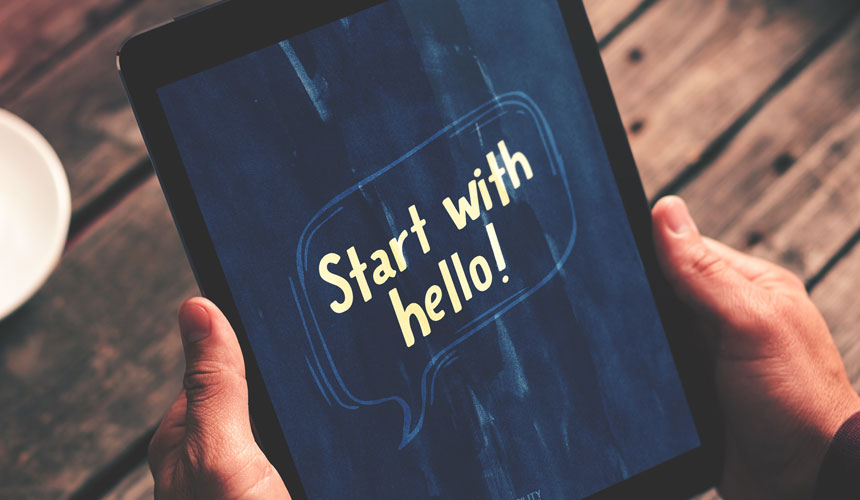 Start With Hello – Free Wallpaper